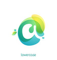 ecology lowercase letter a logo overlapping vector image vector image