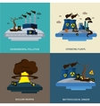 Environmental Pollution Icon Set vector image vector image