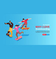 extreme street sport horizontal banner vector image