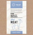 fine quality organic goat abstract meat vector image vector image