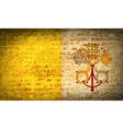 Flags Vatican CityHoly See with dirty paper vector image