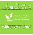 Flat design of ecology environment green clean vector image vector image