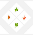 flat icon leaves set of leaf foliage leafage and vector image vector image