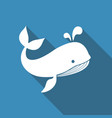 flat icon of a whale vector image