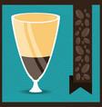 flat mocha concept types coffee drinks vector image