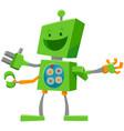 funny robot cartoon comic character vector image vector image