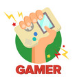 gamer concept games digital design vector image