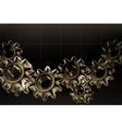 Gears background black horizontal vector | Price: 1 Credit (USD $1)