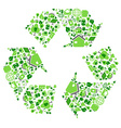 green eco recycling symbol vector image vector image