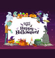halloween ghosts pumpkings witch and zombie vector image vector image