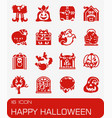 happy hallowen icon set vector image