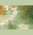 horizontal green color polygonal banner vector image vector image