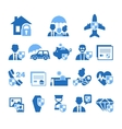 Insurance Icons in Handdrawn Style vector image vector image