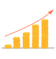 investment growth graphic profit increase graph vector image