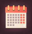 isolated calendar icon flat vector image