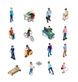 Isometric People Icons Set vector image vector image