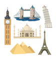 landmarks set vector image