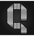 Letter metal chrome ribbon - Q vector image vector image