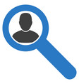 locate user flat icon vector image vector image