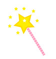 magic wand icon flat cartoon style isolated on vector image vector image
