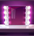 makeup mirror lamp illuminated vector image vector image