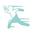 man running draw vector image vector image
