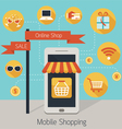 Mobile Smartphone Online Shop with Icons vector image vector image