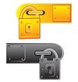 Outboard lock vector image vector image