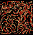 paisleys seamless pattern black floral background vector image vector image