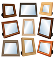 Picture frame set vector image vector image