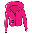 pink coat on white background vector image vector image