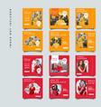red fashion social media promotion design vector image vector image