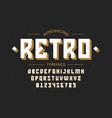 retro style vintage font vector image vector image