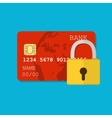 secure credit card vector image vector image