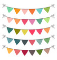 set multi colored flat buntings garlands vector image