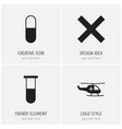 set of 4 editable health icons includes symbols vector image