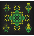 Set of decorative ornament elements vector image vector image