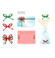 Set of ribbon tied bows for gift card vector image vector image