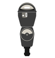 Silhouette of retro american parking meter vector image vector image