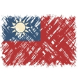 Taiwanese grunge flag vector image vector image