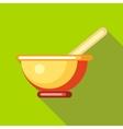 Tea mug icon flat style vector image vector image