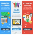 Three vertical financial banners vector image vector image
