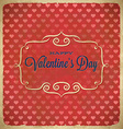 Valentines Day polka dot frame with hearts vector image vector image