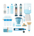 water filtration home cooler and systems vector image vector image