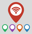 wi-fi connection map pointer on grey background vector image vector image