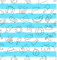 seamless pattern with hand drawn travel objects vector image