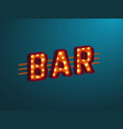 3d retro bar sign vector image vector image