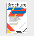 abstract brochure template flyer layout flat vector image vector image