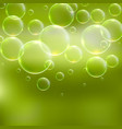 abstract green background with bubbles vector image vector image