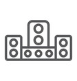audio system line icon technology and device vector image vector image